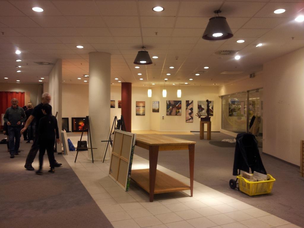 Aufbau Rathausgalerie
